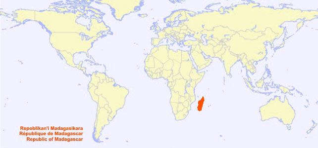 Carte Madagascar Monde | tonaartsenfotografie