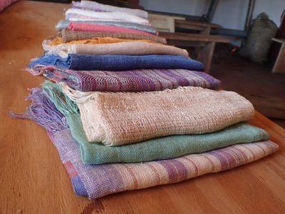 echarpes soie couleurs variees