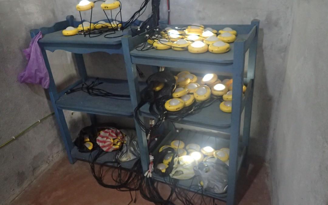 Lampes du kiosque solaire